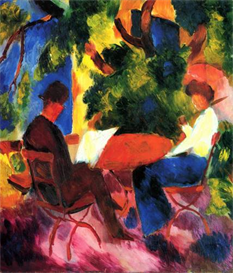 Image Photo Couple at the garden table Macke | Photos and Images | Vintage