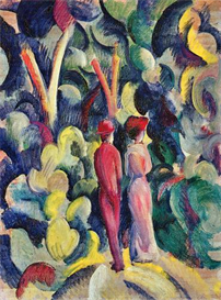 Image Photo Couple in the forest August Macke Expressionism | Photos and Images | Vintage