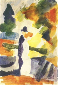 Image Photo Couple in the park August Macke Expressionism | Photos and Images | Vintage