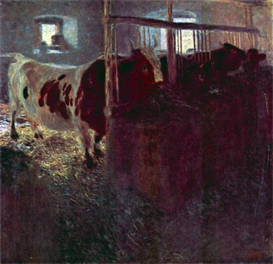 Image Photo Cows in Stall Klimt | Photos and Images | Vintage
