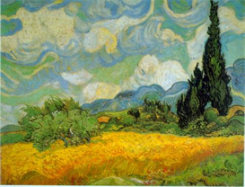 Image Photo Cypresses Van Gogh | Photos and Images | Vintage