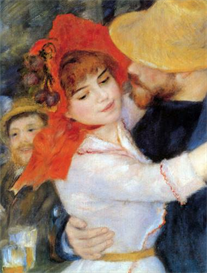 Image Photo Dance in Bougival (Detail) Renoir | Photos and Images | Vintage