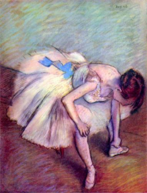 Image Photo Dancer bent over Degas   Photos and Images   Vintage