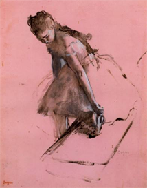 Image Photo Dancer slipping on her shoe Degas | Photos and Images | Vintage