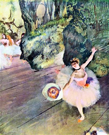 Image Photo Dancer with a bouquet of flowers (The Star of the ballet) Degas | Photos and Images | Vintage