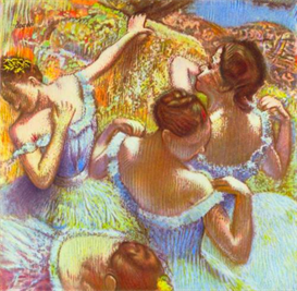 Image Photo Dancers in blue Degas | Photos and Images | Vintage