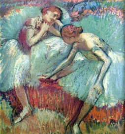 Image Photo Dancers in green Degas Impressionism | Photos and Images | Vintage