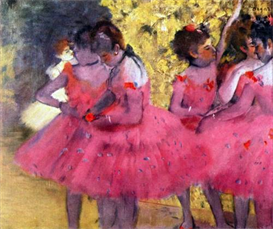 Image Photo Dancers in pink between the scenes Degas | Photos and Images | Vintage