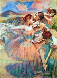Image Photo Dancers in the landscape Degas | Photos and Images | Vintage