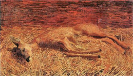 Image Photo Dead deer Albin Egger-Lienz Symbolism | Photos and Images | Vintage