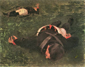 image photo dead frenchmen albin egger-lienz symbolism