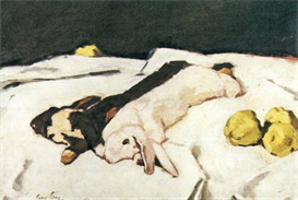 Image Photo Dead hares Albin Egger-Lienz Symbolism | Photos and Images | Vintage
