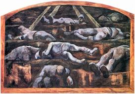 Image Photo Dead victims, design (II) Albin Egger-Lienz Symbolism | Photos and Images | Vintage