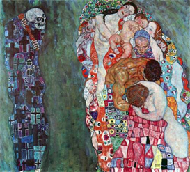image photo death and life klimt