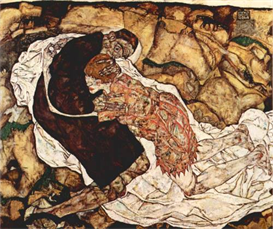 image photo death and the woman schiele