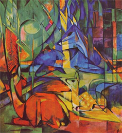 Image Photo Deer in Forest Franz Marc | Photos and Images | Vintage