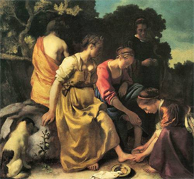 Image Photo Diana and her nymphs Vermeer | Photos and Images | Vintage