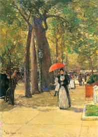 Image Photo Die Fifth Avenue beim Washington Square Hassam Impressionism American | Photos and Images | Vintage