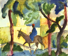image photo donkey rider august macke expressionism