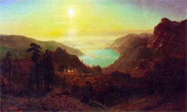 Image Photo Donner Lake #2 Bierstadt | Photos and Images | Vintage