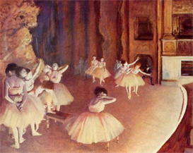 image photo dress rehearsal of the ballet on the stage degas