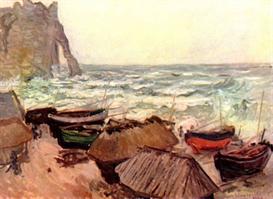 Image Photo Durchbrochener rock at Etretat Monet | Photos and Images | Vintage