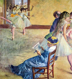 image photo during the dance lessons  madame cardinal degas
