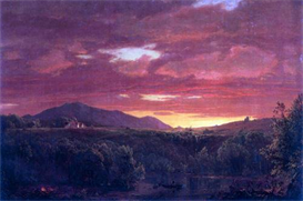 Image Photo Dusk (sunset) Frederick Edwin Church | Photos and Images | Vintage