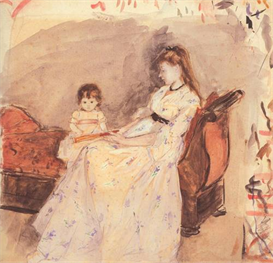 Image Photo Edma, the sister of the artist with her daughter Morisot | Photos and Images | Vintage