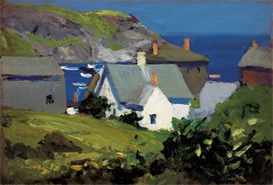 Image Photo Edward Hopper - Monhegan houses in Maine Modernism | Photos and Images | Vintage