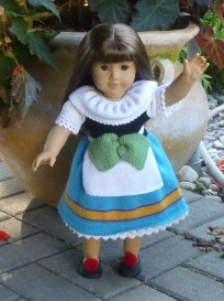doll knitting pattern - c004 - italy - traditional costume