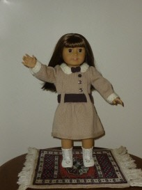 Doll Knitting Pattern - D002 - Daisy - Tan & Brown Dress | Crafting | Sewing | Other