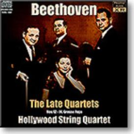 BEETHOVEN Late Quartets, Hollywood Qt, 1957, Ambient Stereo MP3 | Music | Classical
