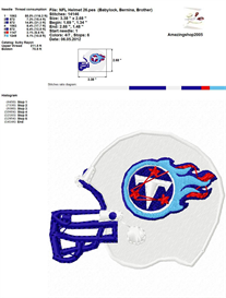 Nfl Helmet Embroidery Design | Crafting | Sewing | Other