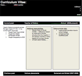 CV template for all teachers | Documents and Forms | Templates