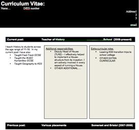 cv template for all teachers