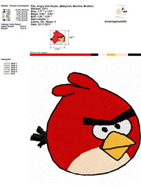 Angry Bird Embroidery Design | Crafting | Sewing | Other