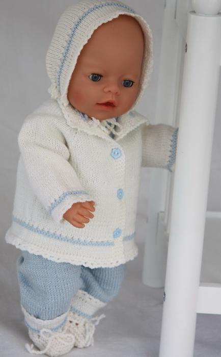 First Additional product image for - DollKnittingPatterns - 0076D KATJA - Dress, Pant, Outdoor Jacket, Socks and Hat (English)