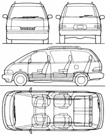 1993 Toyota Previa MVMA | eBooks | Automotive