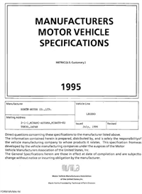 1995 Acura Legend MVMA | eBooks | Automotive