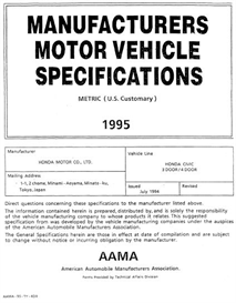 1995 Honda Civic MVMA | eBooks | Automotive
