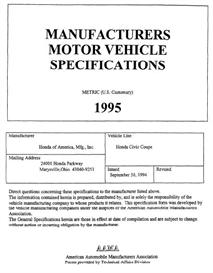 1995 Honda Civic Coupe MVMA | eBooks | Automotive