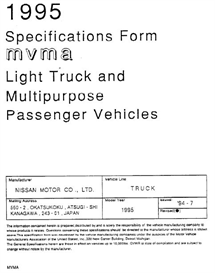 1995 Nissan Pickup & MPV MVMA | eBooks | Automotive