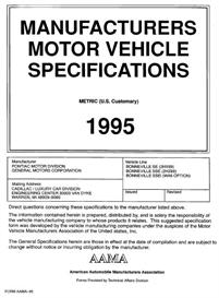 1995 Pontiac Bonneville MVMA | eBooks | Automotive