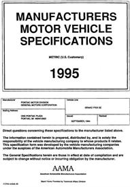1995 Pontiac Grand Prix SE MVMA | eBooks | Automotive