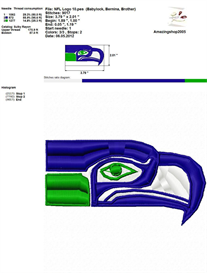 Nfl Logo Embroidery Design | Crafting | Sewing | Other