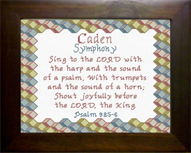 Name Blessings - Caden | Crafting | Cross-Stitch | Religious