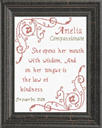 Name Blessings - Amelia | Crafting | Cross-Stitch | Religious