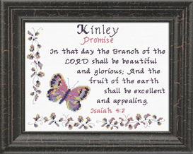 Name Blessings - Kinley | Crafting | Cross-Stitch | Religious