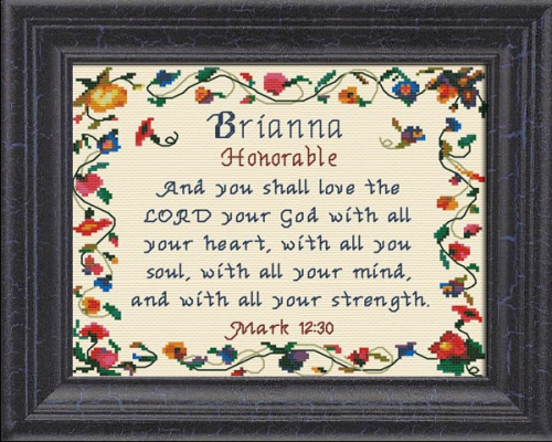 First Additional product image for - Name Blessings - Brianna